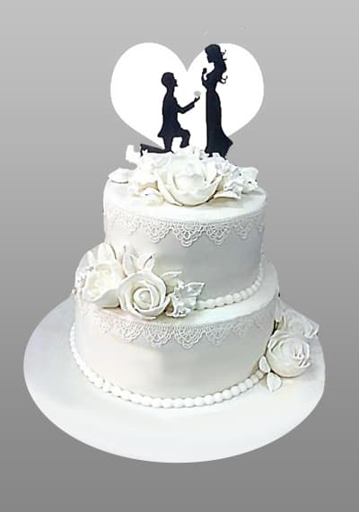 2 level Wedding cake ii