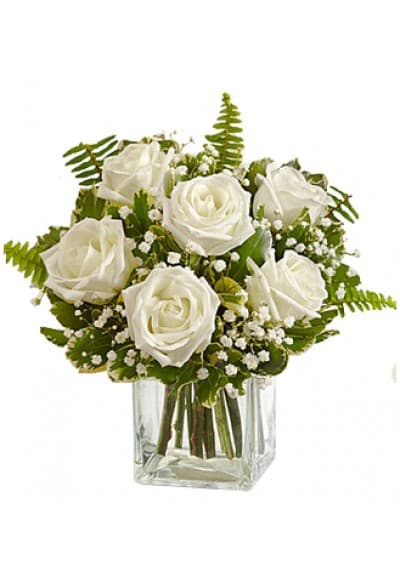 Love Embrace White Roses