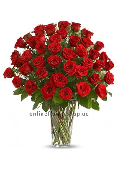50 Long Stem Red Rose